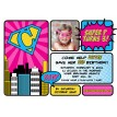 Vintage Super Girl Printable Photo Invitation